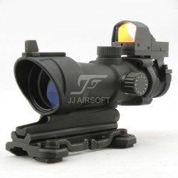 TARGET T1 Red Dot with Killflash, QD Riser Mount, CNC Low Mount and 45-Degree Offset Mount (Tan)